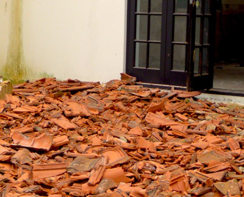 Removal of all Ceramic Roof Tiles